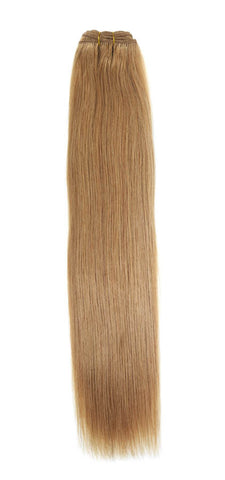 "American Pride Euro Weave Human Hair Extensions 18"" Bronze Blonde (27) - Beauty Hair Direct"