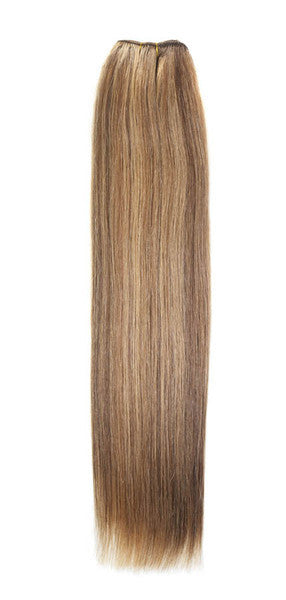 "American Pride Euro Weave Human Hair Extensions 18"" Brown Golden Blonde (8/25) - Beauty Hair Direct"