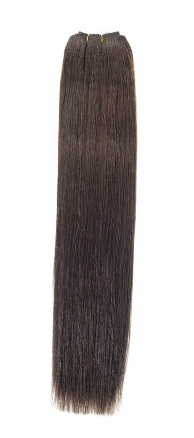 "American Pride Euro Weave Human Hair Extensions 18"" Brownest Brown (2) - Beauty Hair Direct"