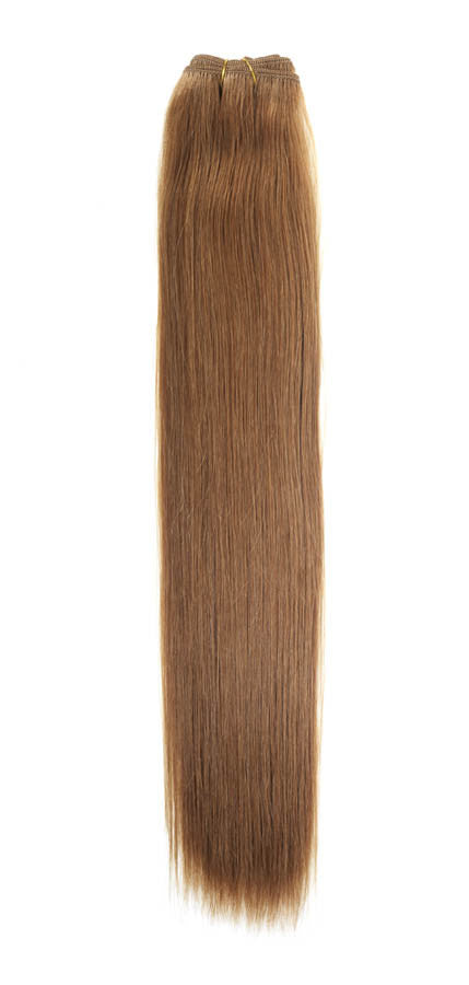 "American Pride Euro Weave Human Hair Extensions 18"" Caramel Brown (12) - Beauty Hair Direct"