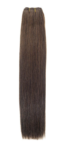 "American Pride Euro Weave Human Hair Extensions 18"" Dark Brown (3) - Beauty Hair Direct"