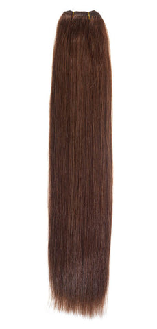 "American Pride Euro Weave Human Hair Extensions 18"" Dark Red Head (33) - Beauty Hair Direct"