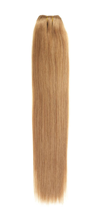 "American Pride Euro Weave Human Hair Extensions 18"" Golden Caramel Brown (14) - Beauty Hair Direct"