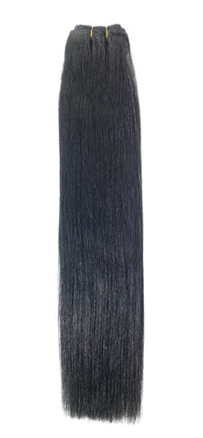 "American Pride Euro Weave Human Hair Extensions 22"" Jet Black (1) - Beauty Hair Direct"