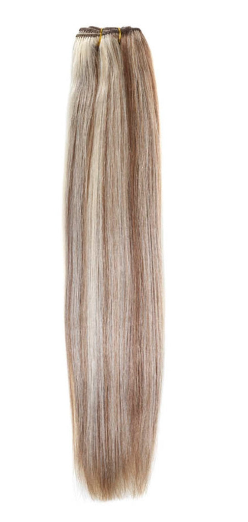 "American Pride Euro Weave Human Hair Extensions 18"" Mocha Brown Starlight 4/613 - Beauty Hair Direct"