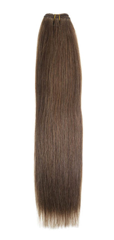"American Pride Euro Weave Human Hair Extensions 18"" Mousey Brown (8) - Beauty Hair Direct"