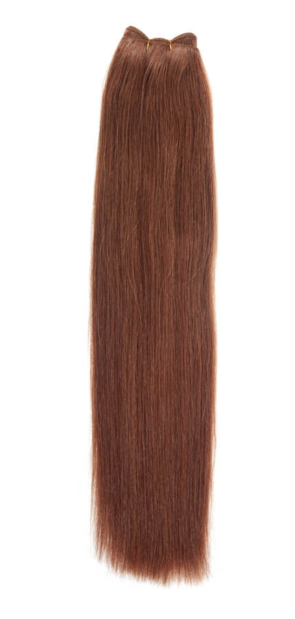 "American Pride Euro Weave Human Hair Extensions 18"" Red Head (30) - Beauty Hair Direct"