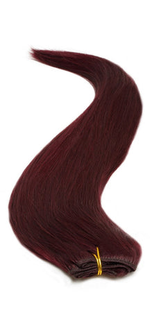 "American Pride Euro Weave Human Hair Extensions 18"" Sheryl Red (99J) - Beauty Hair Direct"