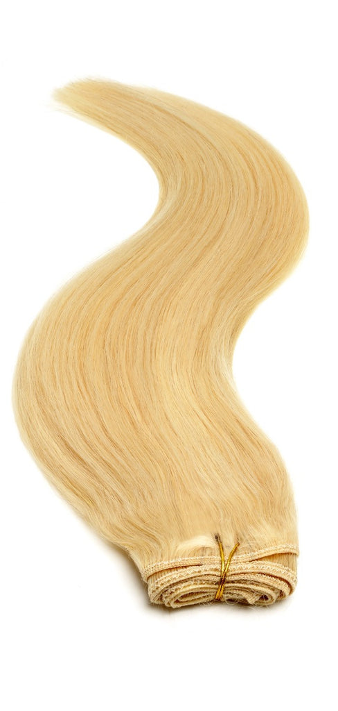 "American Pride Euro Weave Human Hair Extensions 18"" Sunshine Blonde (22/613) - Beauty Hair Direct"