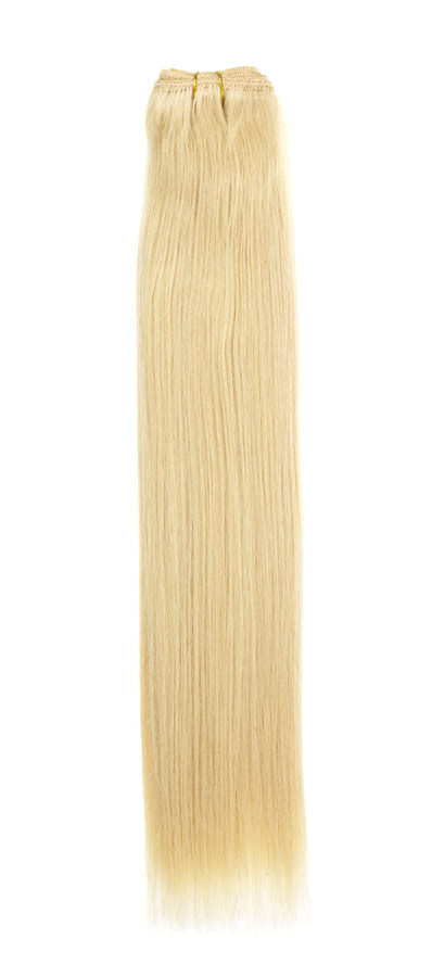"American Pride Euro Weave Human Hair Extensions 18"" Sunshine Blonde (24) - Beauty Hair Direct"