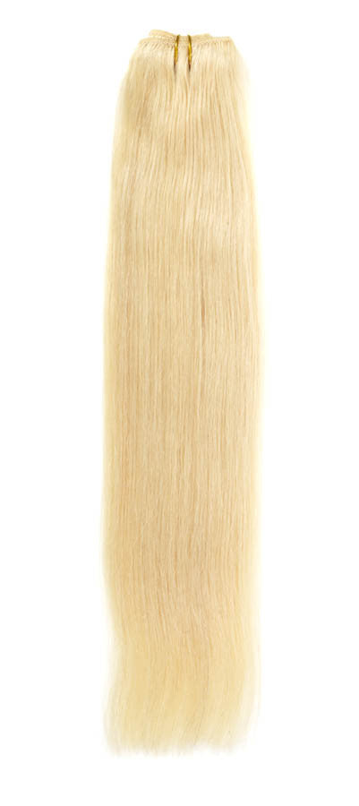 "American Pride Euro Weave Human Hair Extensions 18"" Golden Blonde Blend (24/613) - Beauty Hair Direct"