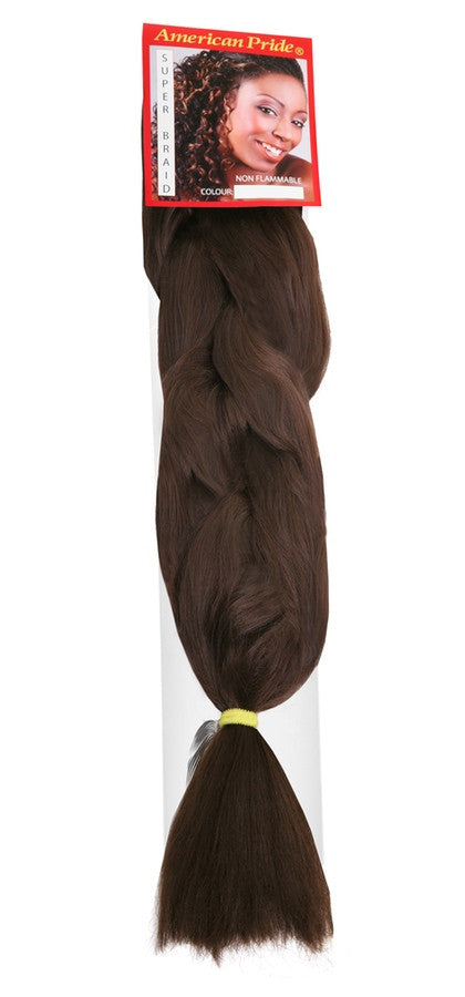 American Pride Synthetic Super Jumbo Braid Hair Extensions Auburn Red	(33) - Beauty Hair Direct