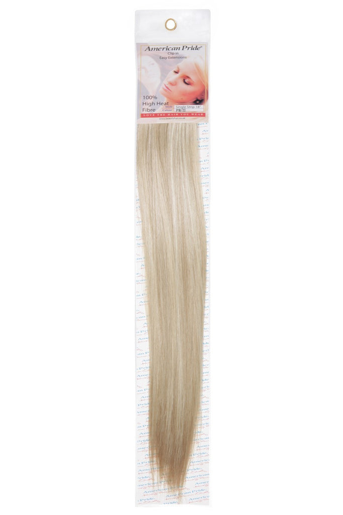 "American Pride Synthetic Single Weft Clip in Hair 6 Clips Hair Extensions 18"" Golden Blend (18/22) - Beauty Hair Direct"