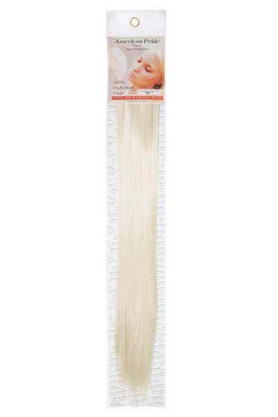 "American Pride Synthetic Single Weft Clip in Hair 6 Clips Hair Extensions 18"" Starlight Blonde (60) - Beauty Hair Direct"
