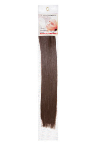 "American Pride Synthetic Single Weft Clip in Hair 6 Clips Hair Extensions 18"" Mousey Brown (8) - Beauty Hair Direct"