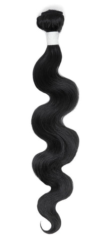 "Aphrodite Brazilian Untreated Hair Extensions Body Wave 18"" Natural Black - Beauty Hair Direct - 1"