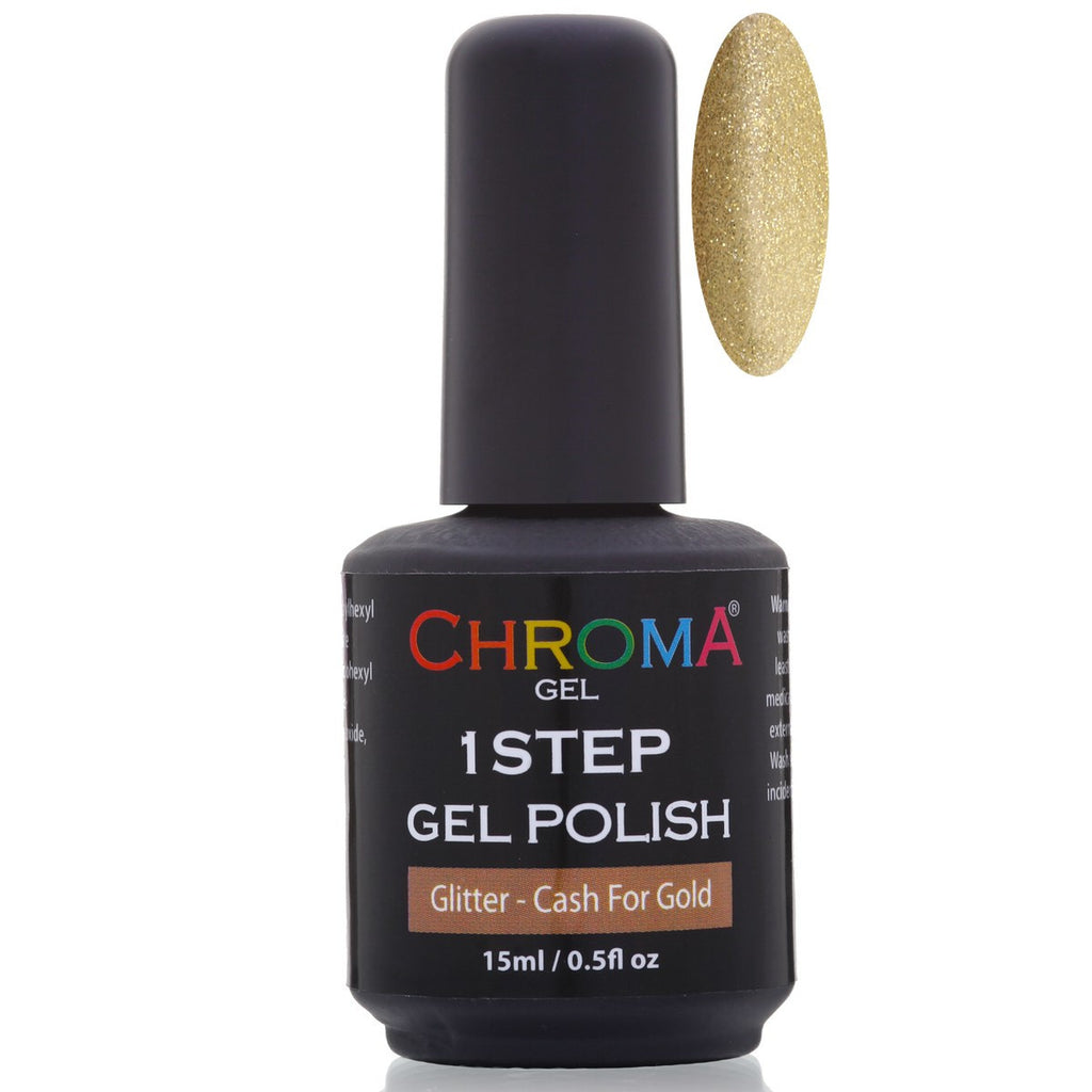Chroma Gel 1 Step Gel Polish Cash 4 Gold 15ml - Beauty Hair Direct