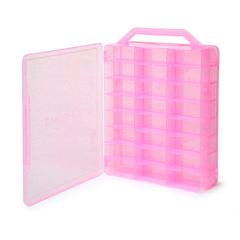 Chroma Gel Nail Polish Case - Universal Nail Polish Case Holder - PINK - Beauty Hair Direct - 1