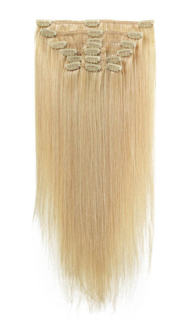 "American Pride Clip in Full Head Human Hair Extensions 18"" Blondie Blonde (22) - Beauty Hair Direct"