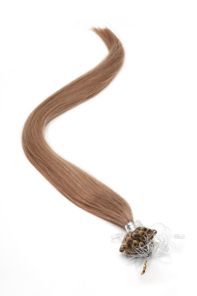 "American Pride Micro Ring Hair Extensions 18"" Lightest Brown (10) - Beauty Hair Direct"