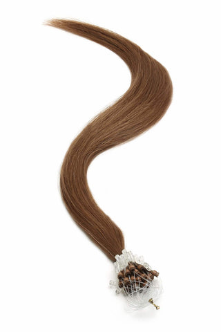 "American Pride Micro Ring Hair Extensions 18"" Warm Brown (4LB) - Beauty Hair Direct"