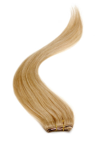 "American Pride Clip in Hair Extensions 6clips Single Weft 18"" Golden Caramel Brown (14) - Beauty Hair Direct"