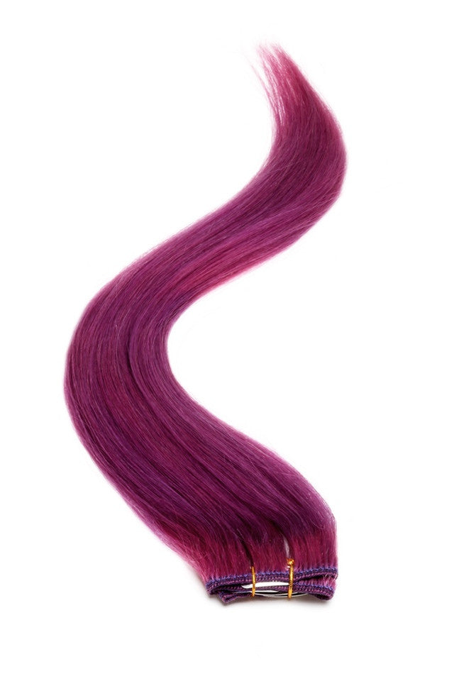 "American Pride Clip in Hair Extensions 6clips Single Weft 18"" PURPLE - Beauty Hair Direct"