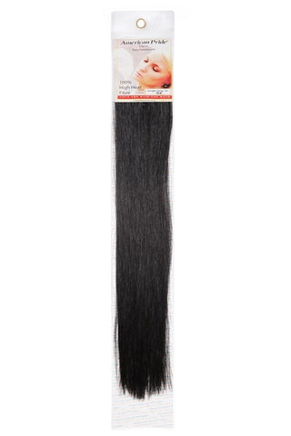 "American Pride Synthetic Single Weft Clip in Hair 6 Clips Hair Extensions 18"" Barely Black (1b) - Beauty Hair Direct"