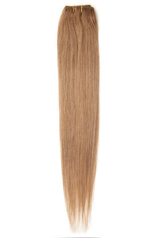 "American Pride Clip in Hair Extensions 6clips Single Weft 18"" Golden Brown (12) - Beauty Hair Direct"