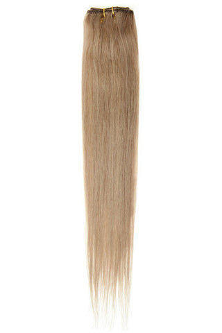 "American Pride Clip in Hair Extensions 6clips Single Weft 18"" Light Mousey Brown (18) - Beauty Hair Direct"
