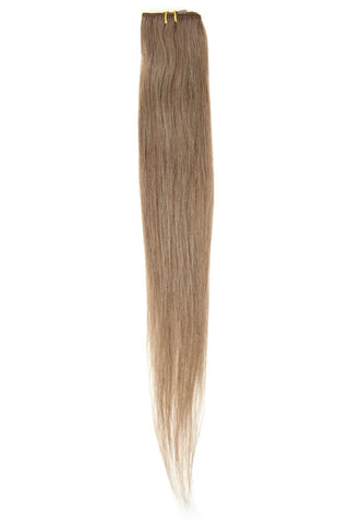 "American Pride Clip in Hair Extensions 6clips Single Weft 18"" Mousey Brown (8) - Beauty Hair Direct"