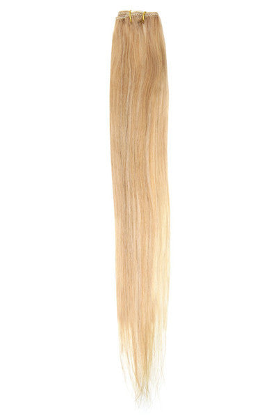 "American Pride Clip in Hair Extensions 6clips Single Weft 18"" Blonde Blend (25/24) - Beauty Hair Direct - 1"