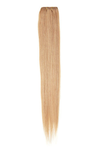 "American Pride Clip in Hair Extensions 6clips Single Weft 18"" Light Golden Blonde Brown (25) - Beauty Hair Direct - 1"