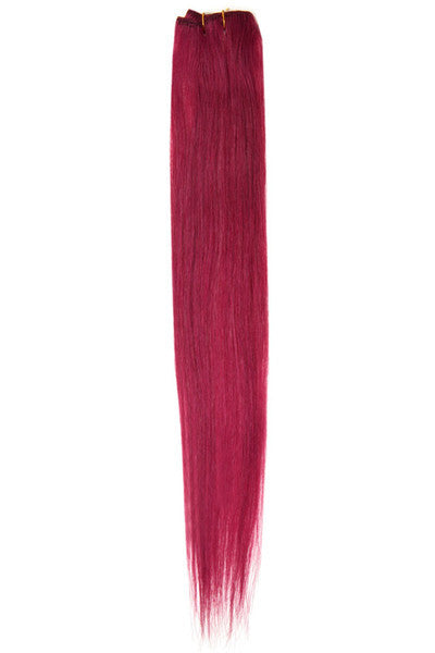 "American Pride Clip in Hair Extensions 6clips Single Weft 18"" Fiery Auburn (530) - Beauty Hair Direct - 1"