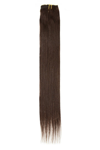 "American Pride Clip in Hair Extensions 6clips Single Weft 18"" Barely Black (1b) - Beauty Hair Direct"