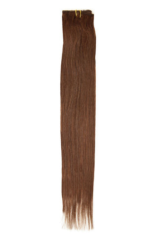 "American Pride Clip in Hair Extensions 6clips Single Weft 18"" Medium Brown (4) - Beauty Hair Direct - 1"