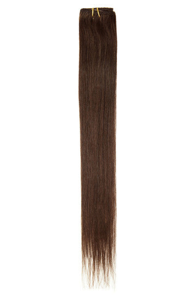 "American Pride Clip in Hair Extensions 6clips Single Weft 18"" Dark Brown (3) - Beauty Hair Direct - 1"