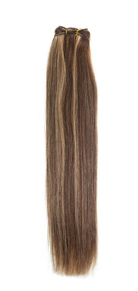 "American Pride Euro Weave Human Hair Extensions 18"" Brown Golden Blonde 4/27 - Beauty Hair Direct"
