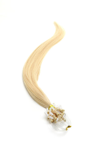 "American Pride Micro Ring Hair Extensions 18"" Lightest Blonde (60) - Beauty Hair Direct"