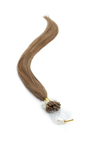 "American Pride Micro Ring Hair Extensions 22"" Coffee Brown (8) - Beauty Hair Direct"