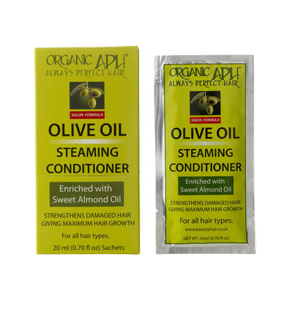 Always Perfect Hair | APH | Olive Oil Steaming Conditioner (12 sachets) 240ml - Beauty Hair Direct