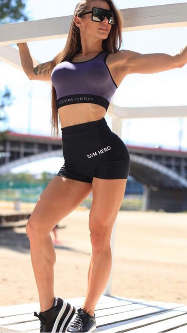 PUSH UP BLACK SHORTS