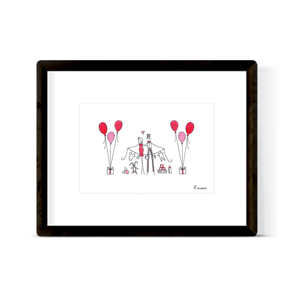 """BALLOONS FOR BABY"" ART PRINT"