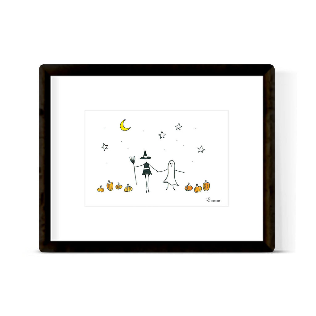 """TRICK OR TREAT"" ART PRINT"