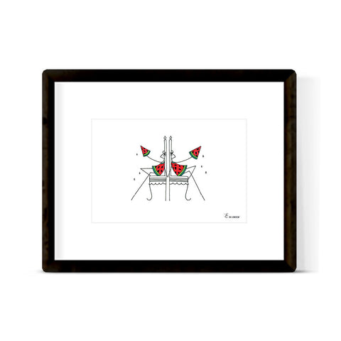 """WATERMELON TWINS"" ART PRINT"