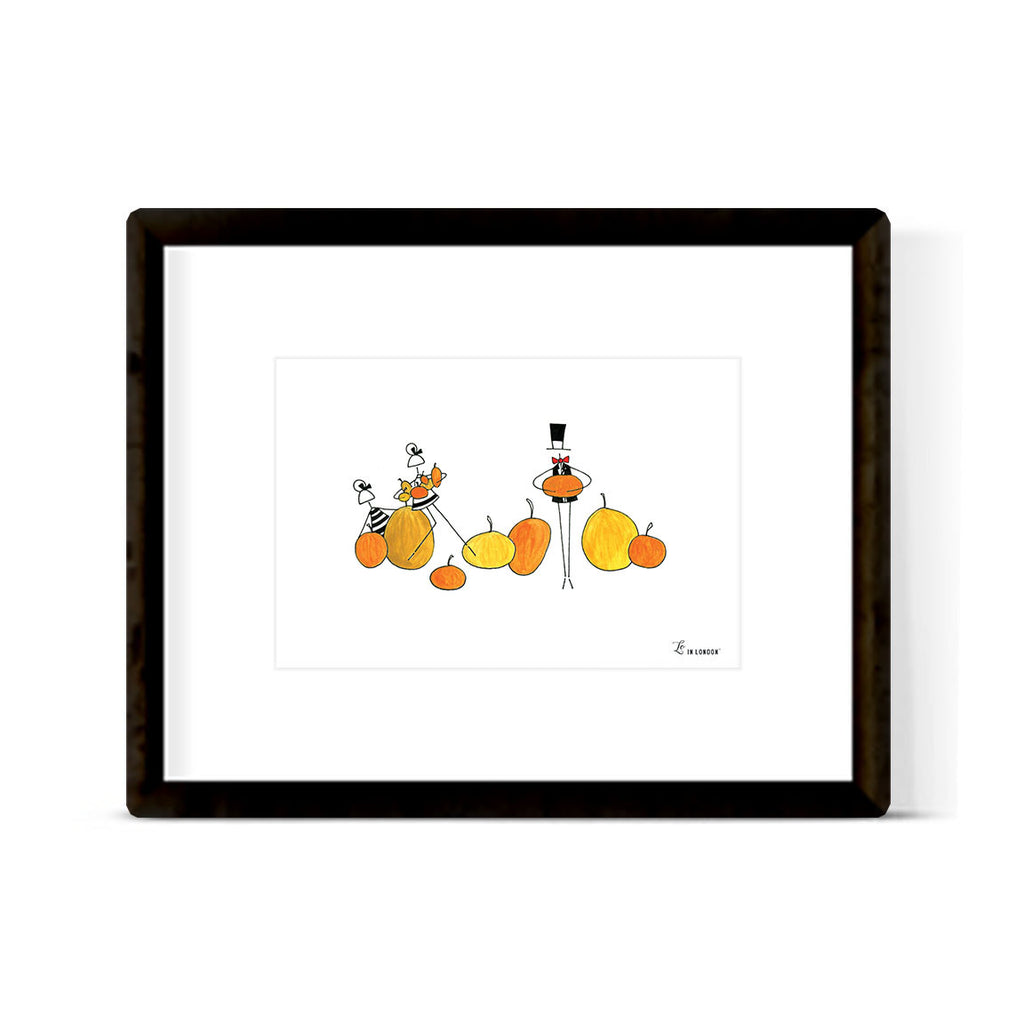 """PUMPKIN PATCH"" ART PRINT"