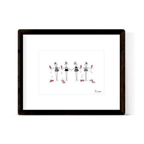 """POPSICLE PARTY"" ART PRINT"