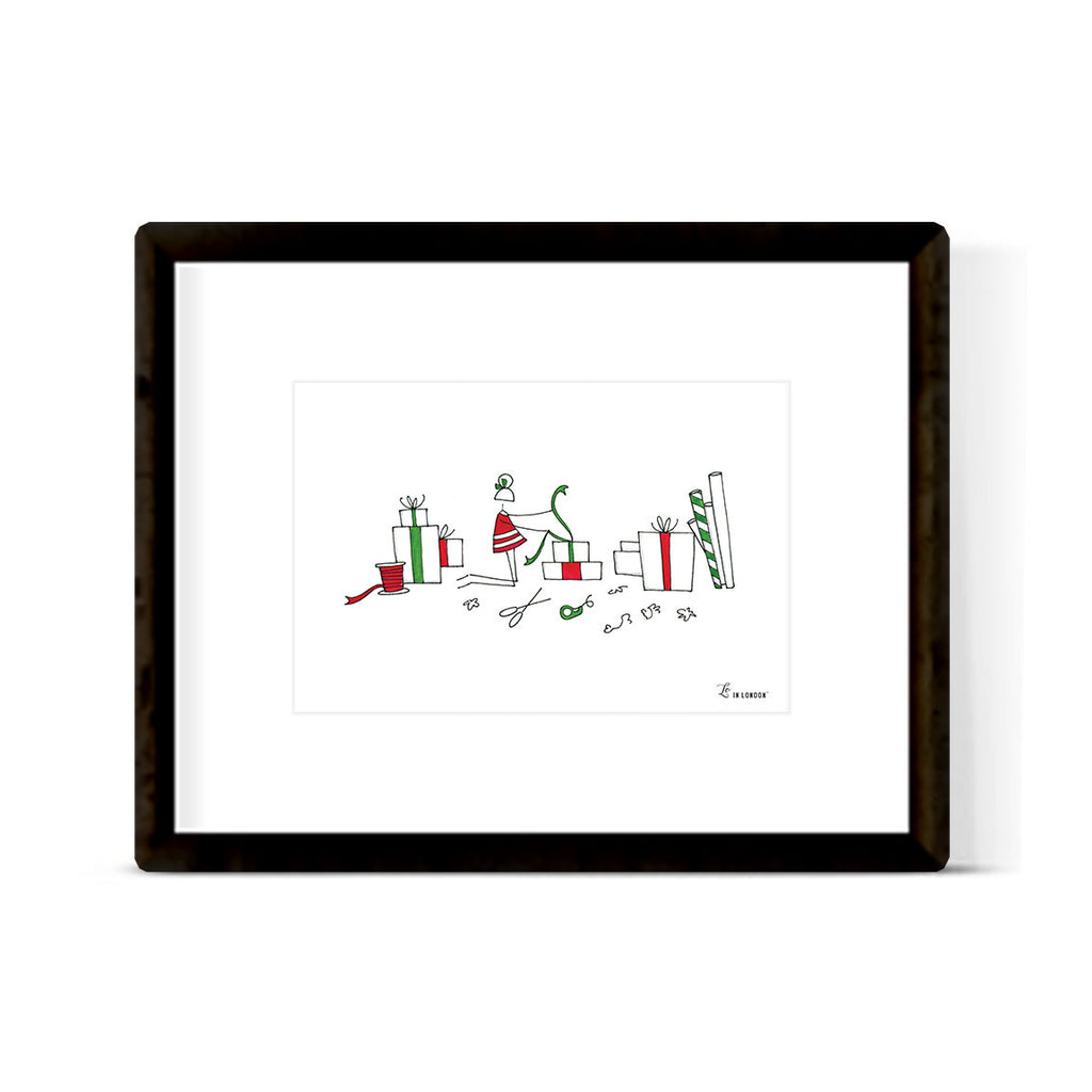 """WRAPPING"" ART PRINT"