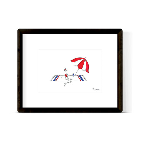 """PATRIOTIC COUPLE"" ORIGINAL ILLUSTRATION"
