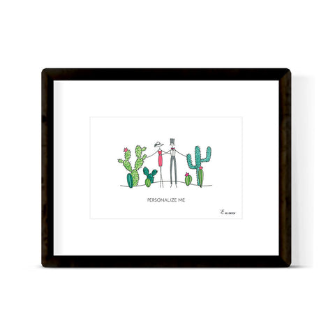 """CACTUS COUPLE"" ART PRINT"